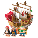 One Piece Chara Bank Pirate Ship Red Force